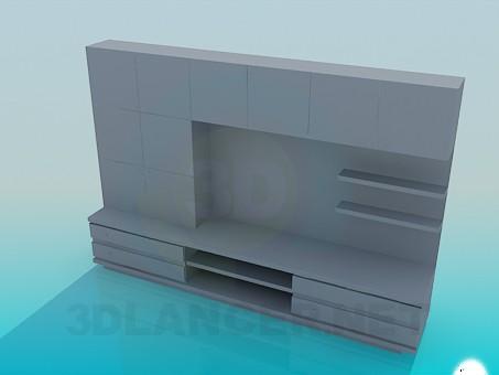 3d модель Мебель в прихожую – превью