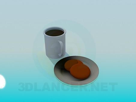 3d модель Чай з печивом – превью