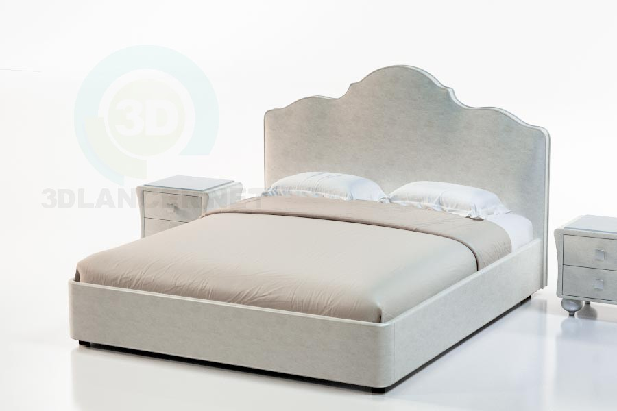 3d модель Кровать Дьюла – превью