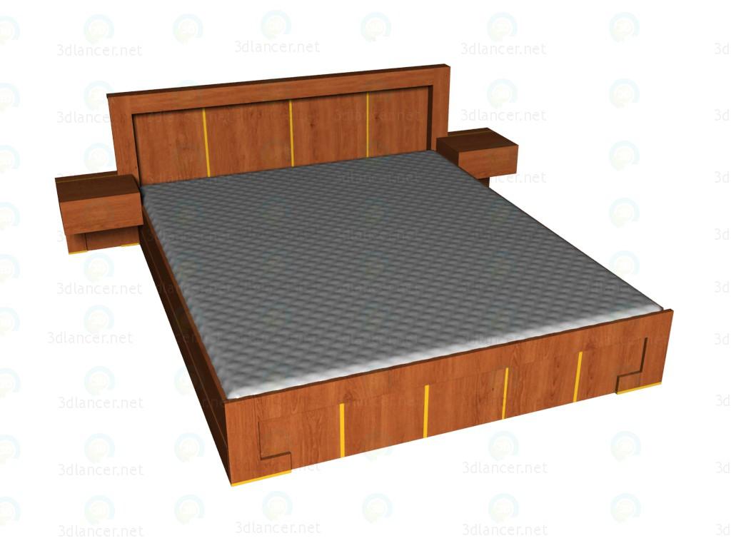 3d модель Кровать 180x220 VOX – превью