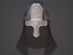 Russian helmet with the icon.