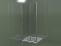 Cabina doccia senza telaio L2 per piatti doccia da incasso