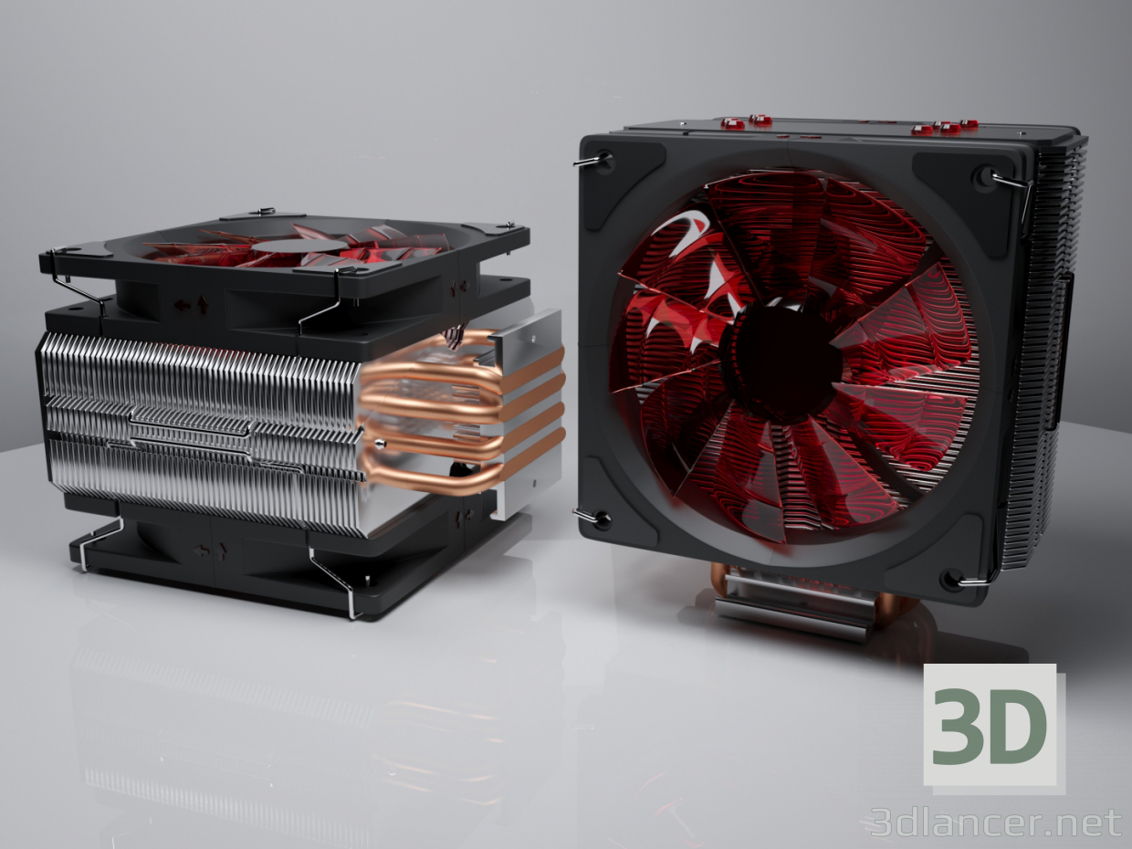 3d model CPU cooling 3 - CPU cooling - preview