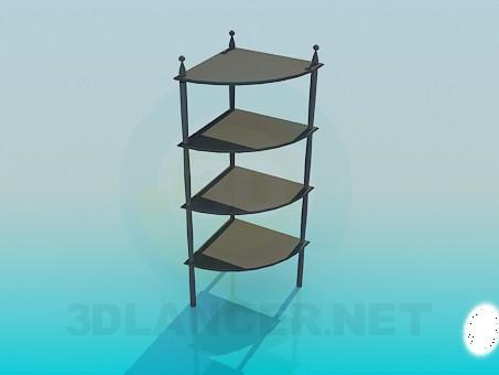 3d модель Угловая этажерка – превью