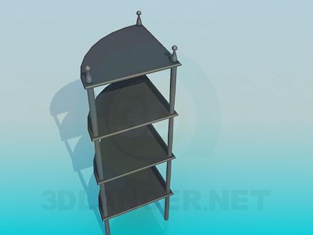 modelo 3D Estantes de esquina - escuchar