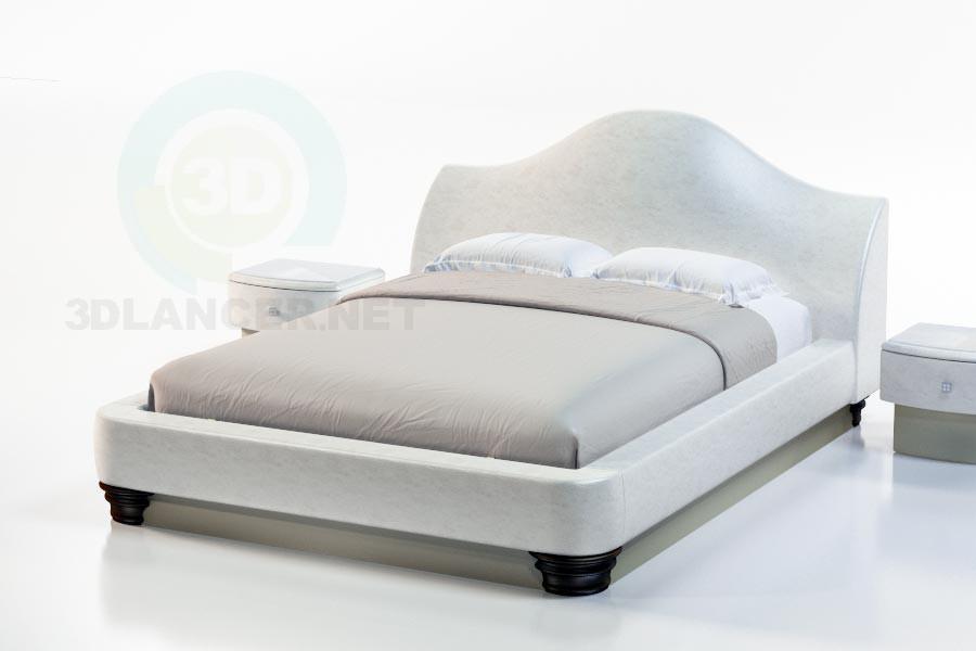 3d моделирование Кровать Фалерцо модель скачать бесплатно