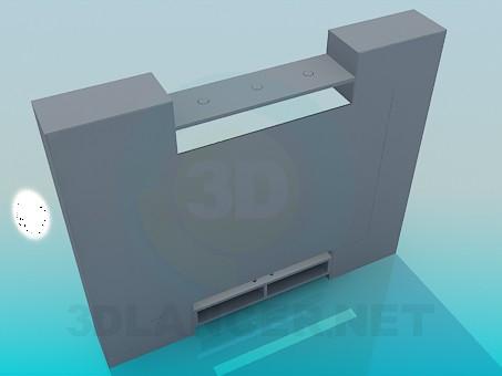 3d модель Мебель в гостинную – превью