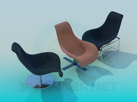 descarga gratuita de 3D modelado modelo Sillas