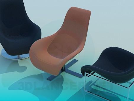 modelo 3D Sillas - escuchar