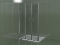 L3 frameless shower enclosure for built-in shower trays