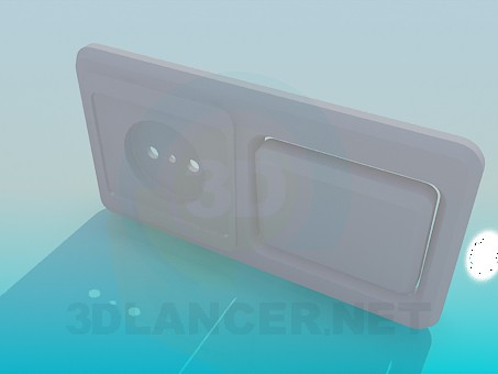 3d model Socket with switch - preview