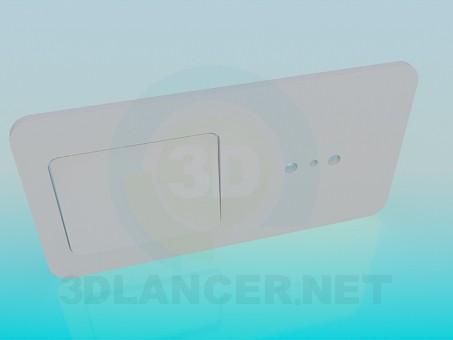 modelo 3D Socket con interruptor - escuchar