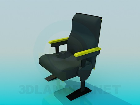 3d моделирование Кресло с подлокотниками модель скачать бесплатно