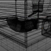 3d hamster cage model buy - render