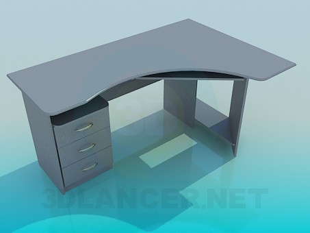 3d model The table for the computer - preview