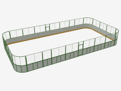 Hockey court (plastic, grid around the perimeter of 20x10) (7932)