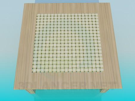 3d модель Стол с шухлядой – превью