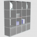 3d model Rack with sections 30cm x 30cm - preview