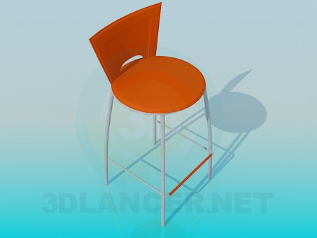 3d model High chair with stand for feet - preview