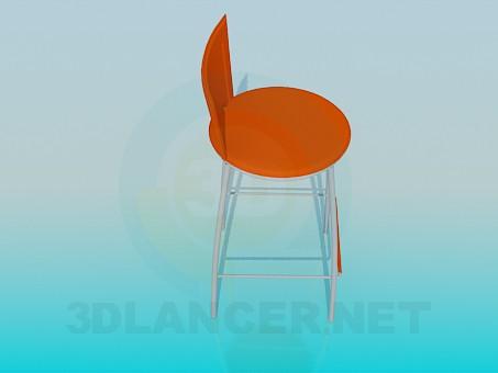 3d модель Високий стілець з підставкою для ніг – превью