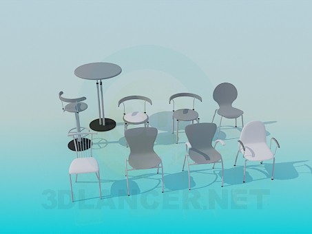 3d modeling Chairs in variety model free download