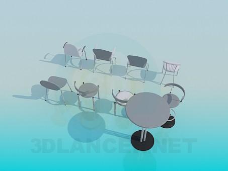 3d модель Стулья в ассортименте – превью
