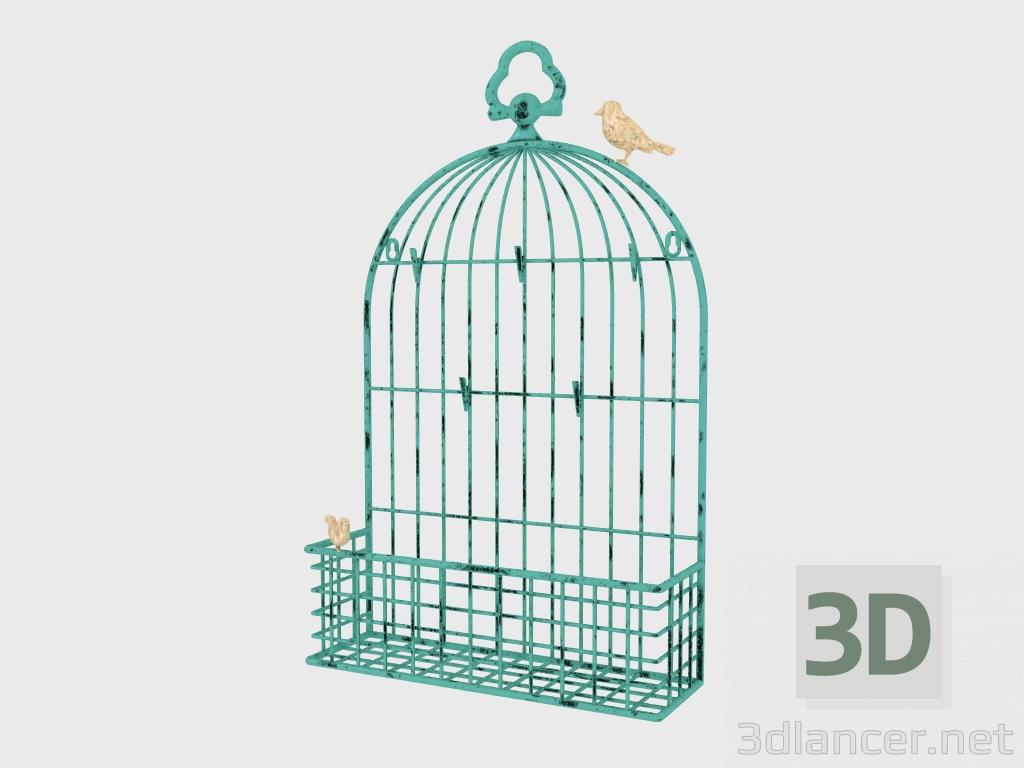 3d model Photo Frame METAL BIRDCAGE CARD - preview