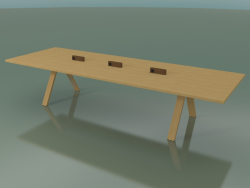 Table with office worktop 5009 (H 74 - 360 x 120 cm, natural oak, composition 1)