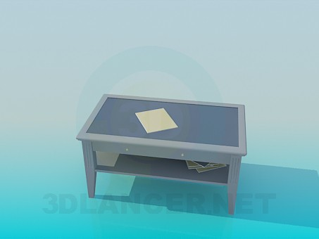 3d model Coffee table with shelf - preview