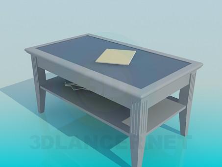3d модель Журнальный стол с полкой – превью