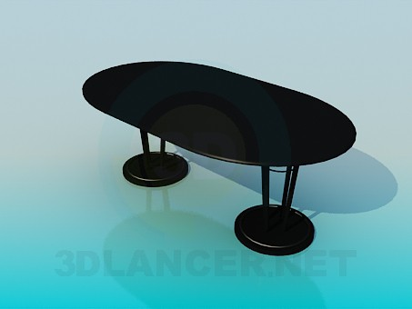 3d model Tablewith two legs - preview