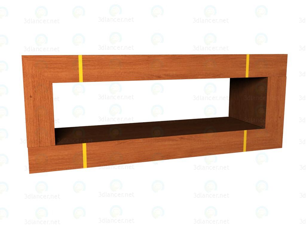 3d model Estantería rectangular - vista previa