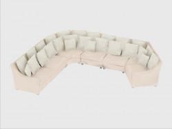 Modulares Sofa Ecke Herzen