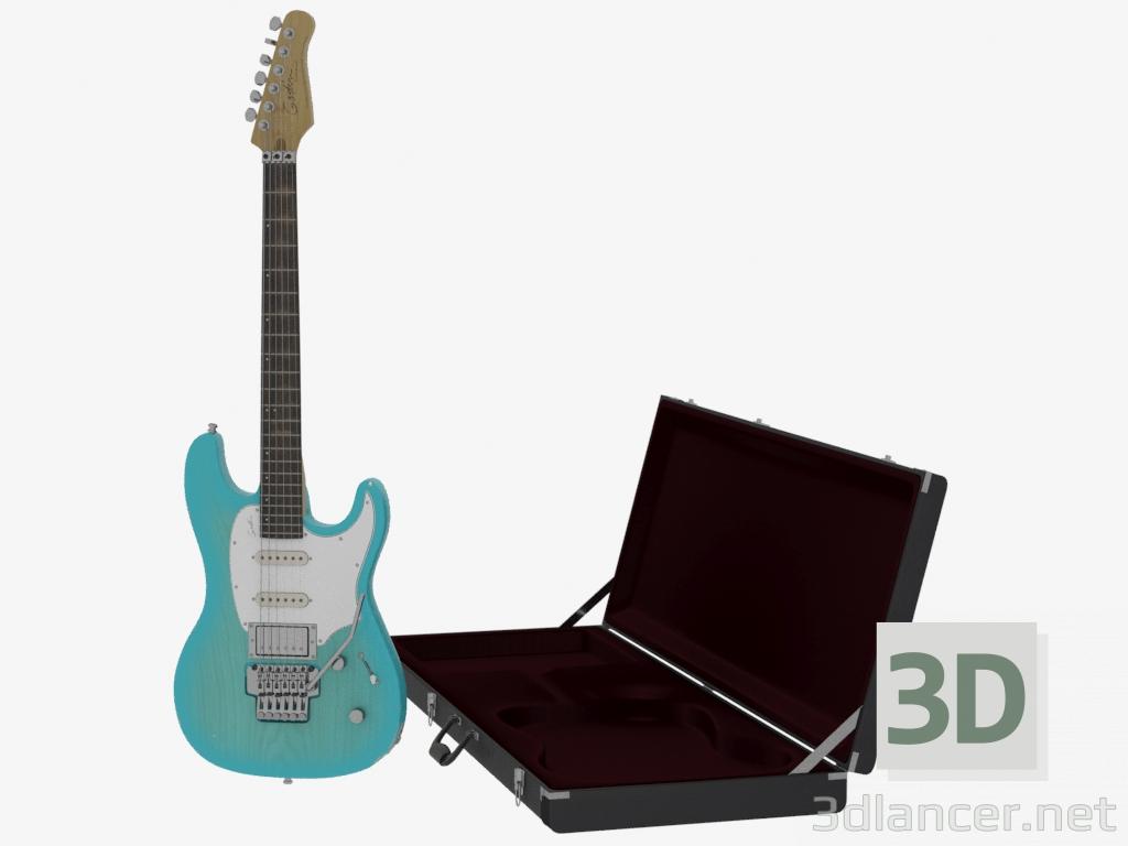 3d модель Гитара Session с кейсом – превью
