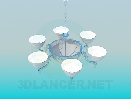 3d modeling Chandelier 6 lights model free download