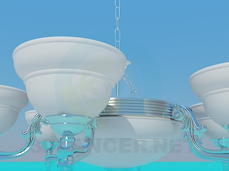 3d model Chandelier 6 lights - preview