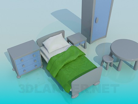 3d modeling The furniture in the nursery model free download