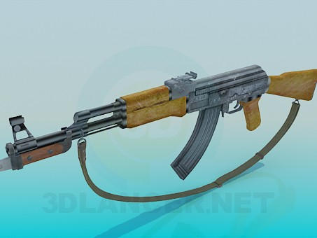 3d model AK 47, 3ds, - Free Download | 3dlancer net