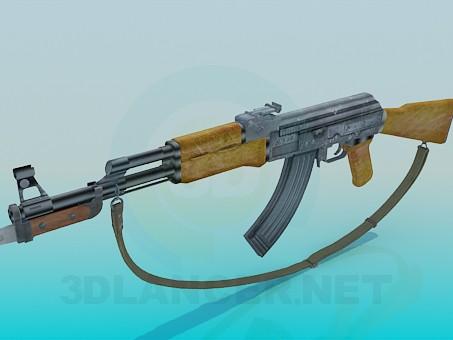 3d model AK 47 - preview