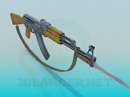 3d модель AK 47 – превью