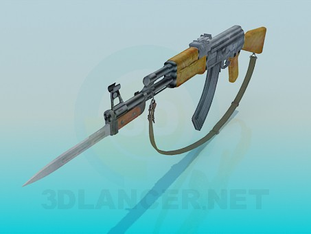modelo 3D AK 47 - escuchar