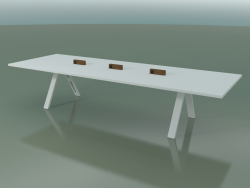 Tavolo con piano da ufficio 5009 (H 74 - 360 x 120 cm, F01, composizione 1)