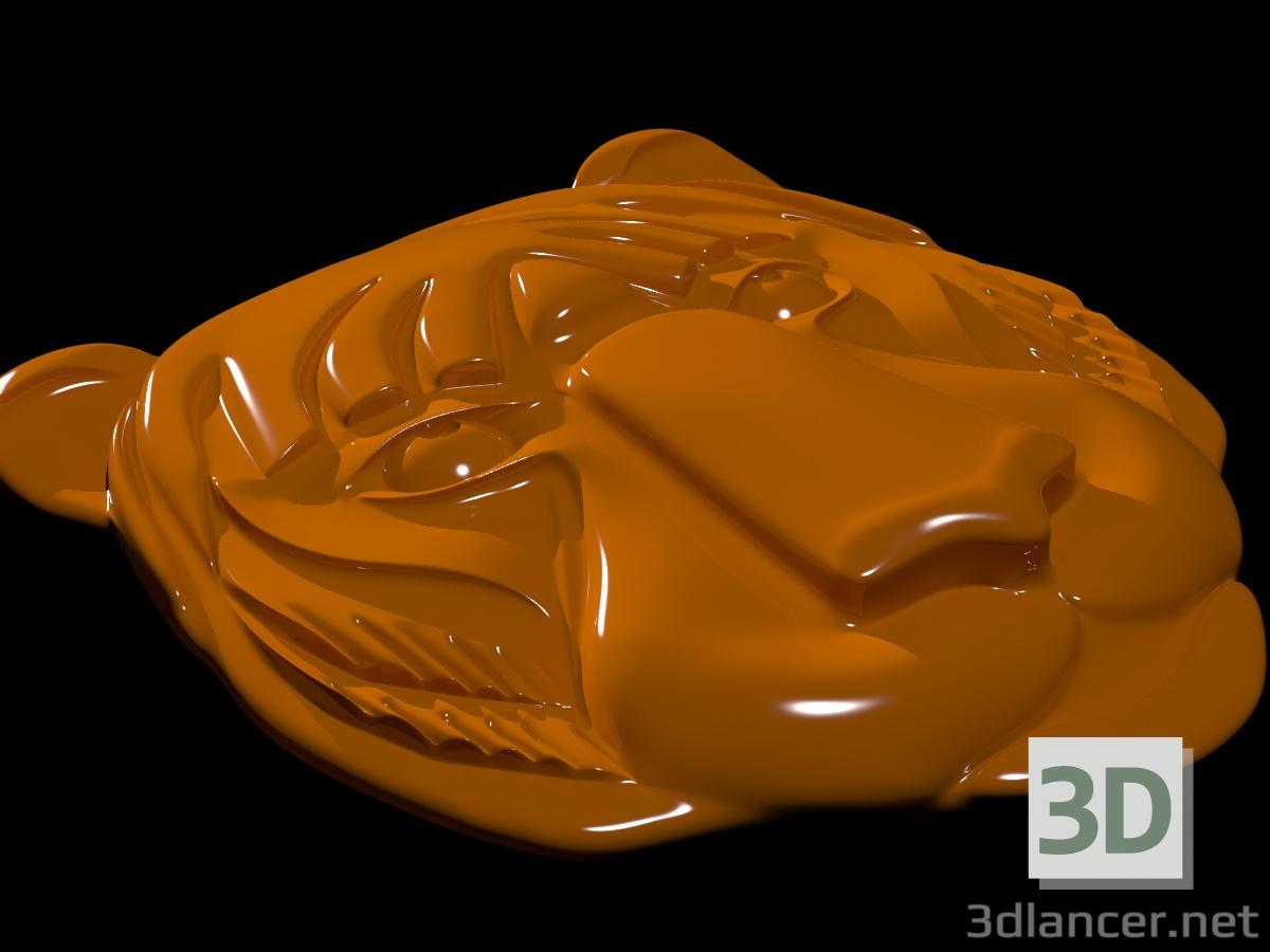 3 डी मॉडल बाघ का मुखौटा - पूर्वावलोकन