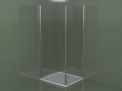 Cabina doccia LA + LF per piatti doccia angolari