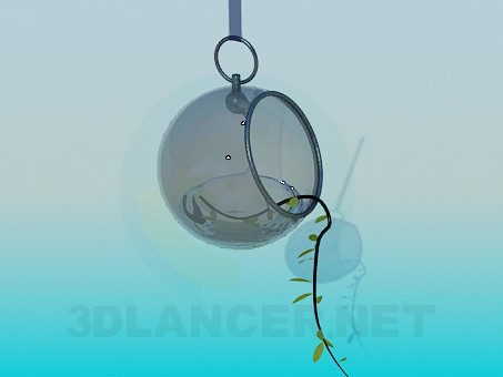 3d model Hanging vase for flower pots - preview