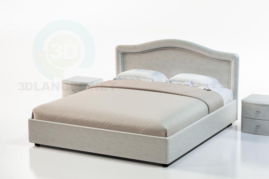 3d моделирование Кровать Гранада модель скачать бесплатно