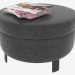3d model Leather pouf Denny (10x40) - preview
