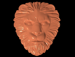 Mask of a lion with a mane