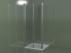 Cabina doccia senza telaio LB per piatti doccia da incasso