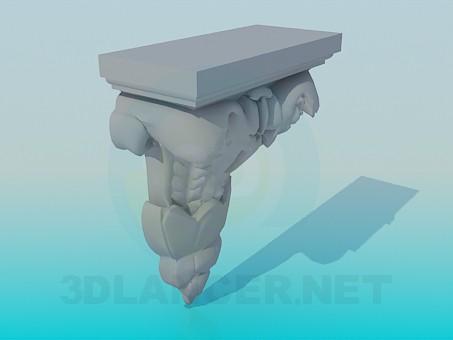 3d model Plaster decoration - preview